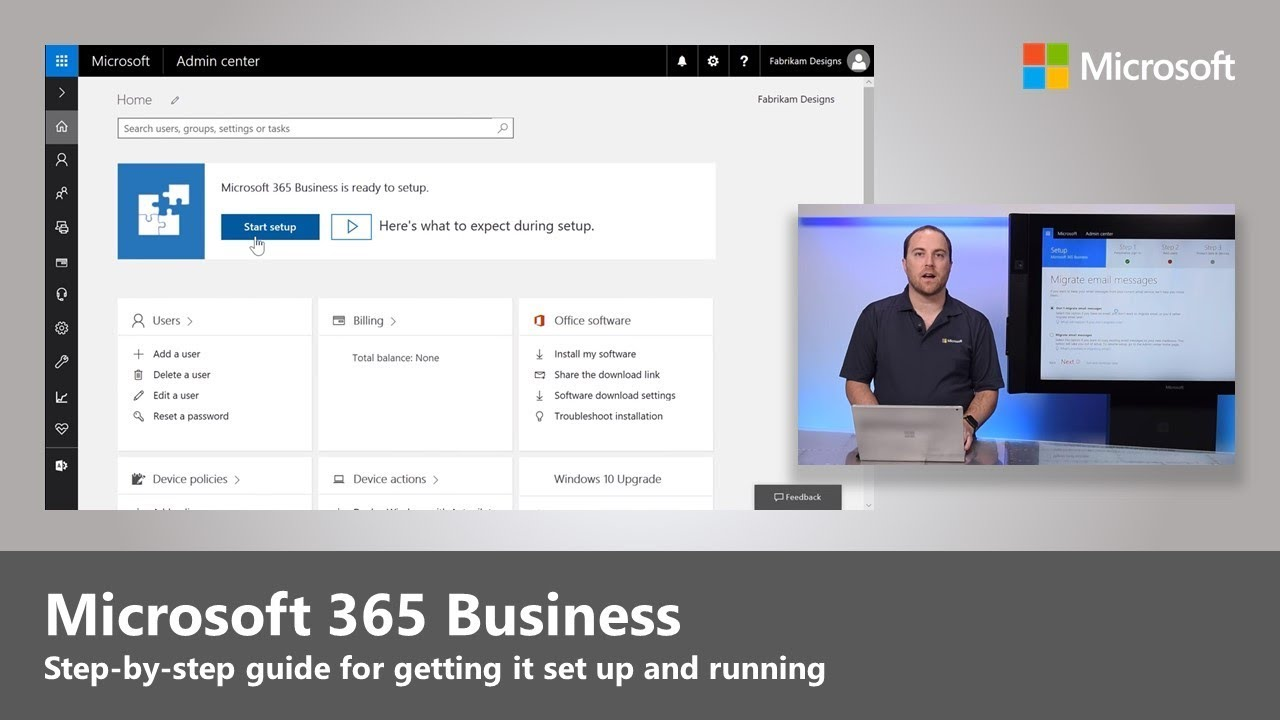 Business Step Microsoft 365 Business Step By Step Guide For Enabling Services And First Run Experience