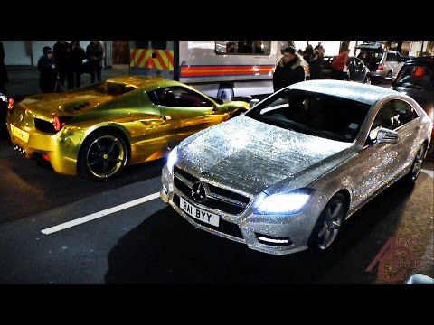 Supercars in London – January 2015 (LaFerrari, Novitec F12, tuner cars)