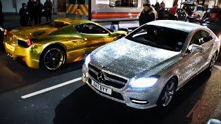 Supercars in London - January 2015 (LaFerrari, Novitec F12, tuner cars)