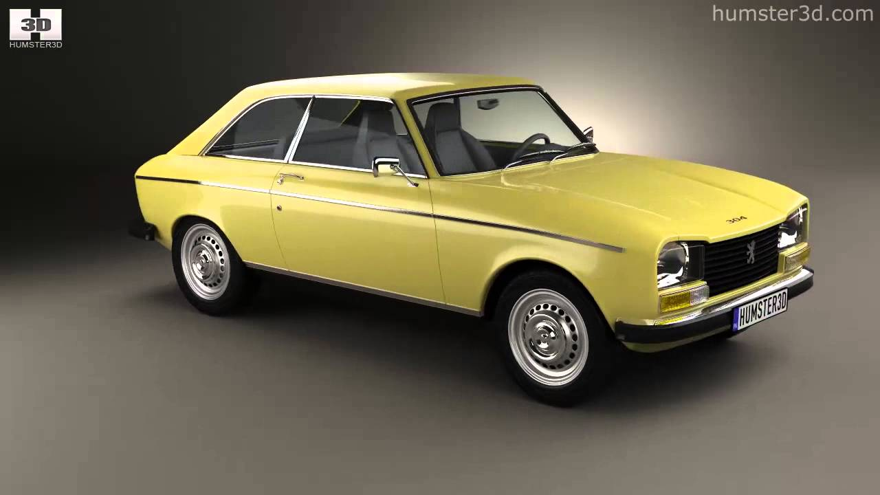 Peugeot 304 Coupe 1970 By 3D Model Store Humster3D.com