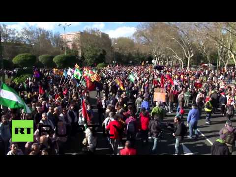 Spain: Madrid marches for 'dignity' to protest government austerity