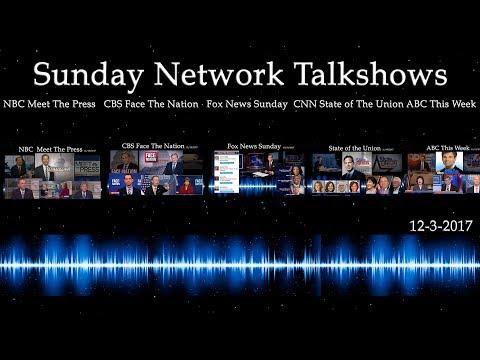 Sunday Network Talkshows December 3rd, 2017