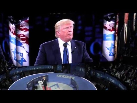 Donald Trump Affirms His Middle-East Policy Points To Pro-Israel Lobby At AIPAC