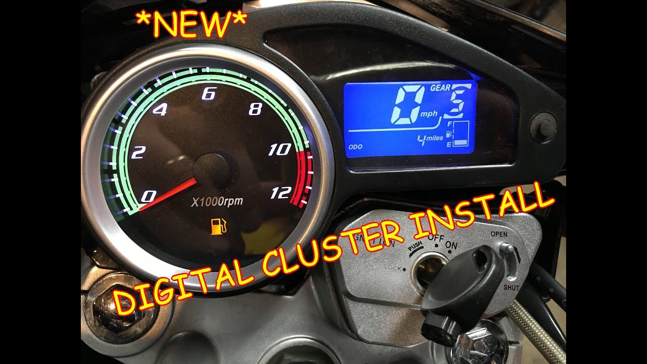 Rps Hawk 250 Digital Guage Dash Cluster Install And Test Youtube Tach Wiring