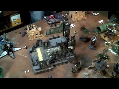 40k Video Battle Report - Dark Eldar vs Iron Hands - 1750pts
