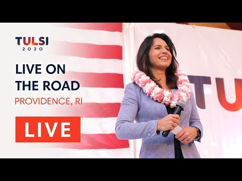 Tulsi Gabbard LIVE on the road - Brown University Lecture - Providence, RI