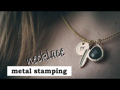DIY Initials Necklace || ImpressArt Metal Stamping