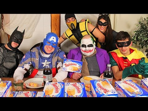 MARVEL Vs DC Twinkie Eating Competition!