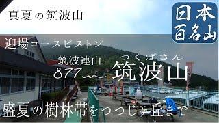 ▲筑波山(877m)登山 迎場コースピストン 2016年7月 暑くて暑くて山頂断念