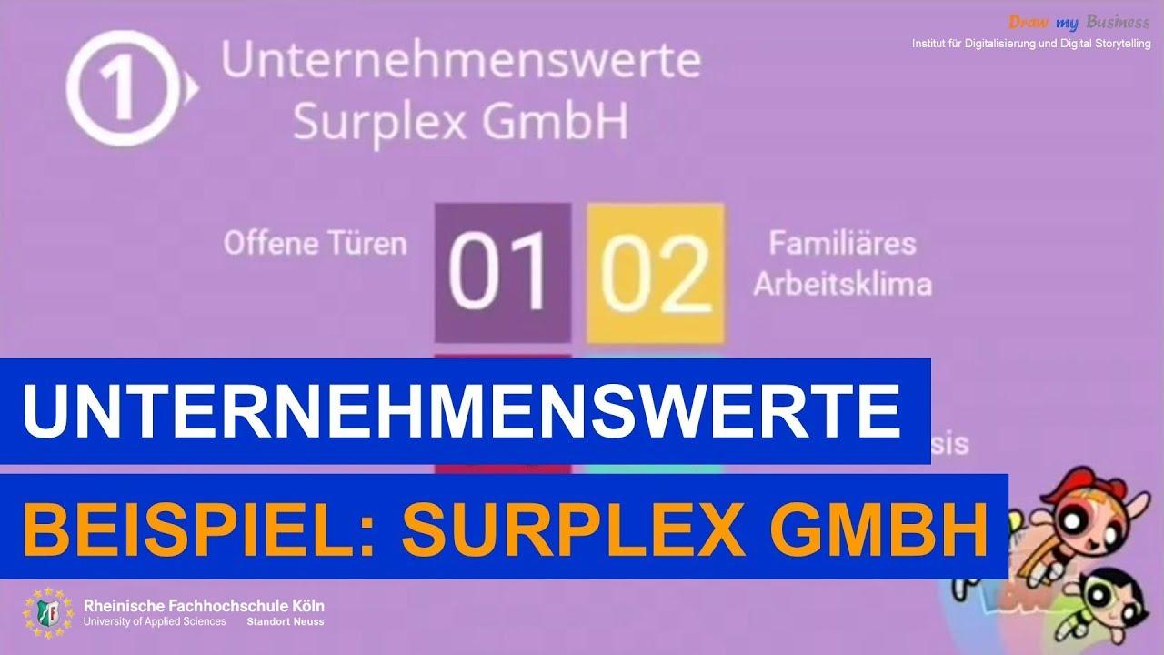 unternehmenswerte am beispiel der surplex gmbh - Unternehmenswerte Beispiele