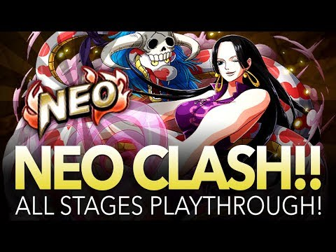NEO CLASH!! BOA HANCOCK! All Stages Playthrough! (ONE PIECE Treasure Cruise)