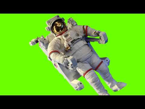 Discovery Astronaut on Station - Green Screen Free Footage