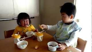 せんももお汁粉を食べる thumbnail