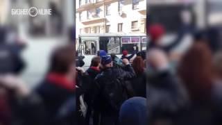 Алексея Навального задержали на несанкционированном митинге в Москве