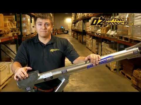 OZ Davit 1000   Steel Davit Crane and Mounting Options