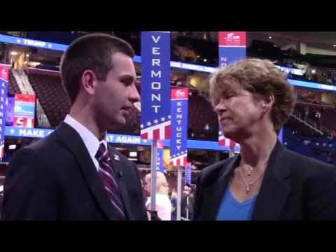 Jace Laquerre, Vermont's youngest delegate, interviewed by Laura Flanders in Cleveland