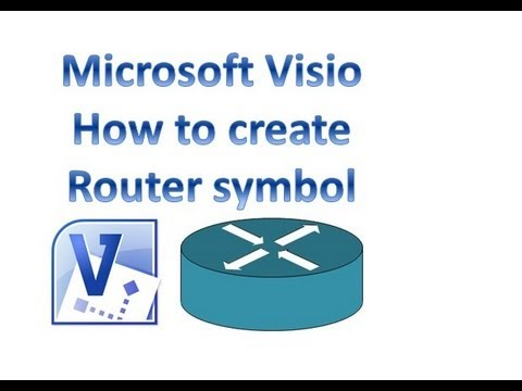 visio router diagram microsoft visio - how to create router symbol - youtube
