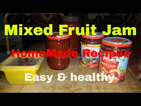 Homemade Mixed Fruit Jam easy & healthy Fruit jam!