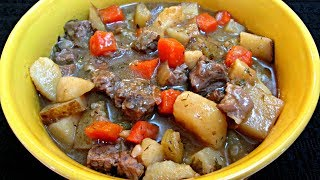 Beef Stew - Carrots, Potatoes, Parsnips and Steak - PoorMansGourmet