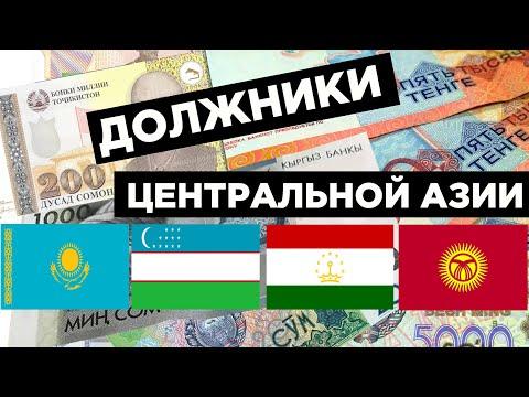 Внешний долг Узбекистана, Казахстана, Таджикистана и Кыргызстана