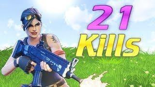 My Best Game.. 21 Kills! (FORTNITE)