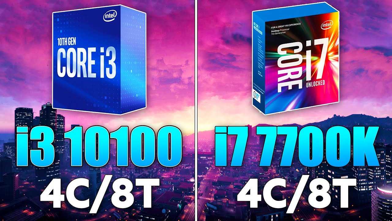i7 7700K vs i3 10100 Test in 10 Games