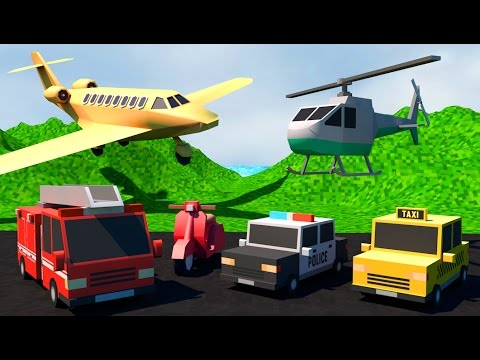 Learn Transport Vehicles for children with sound | Kids Educational Video