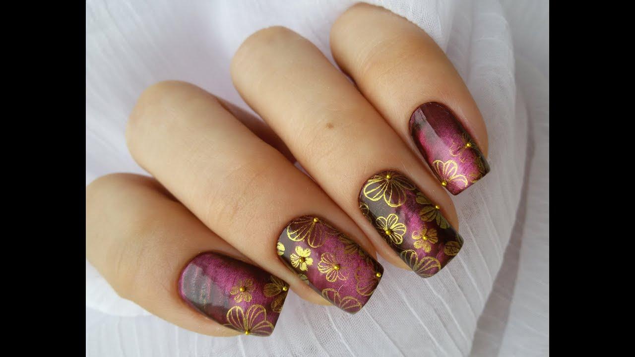 дизайн ногтей фото стемпинг