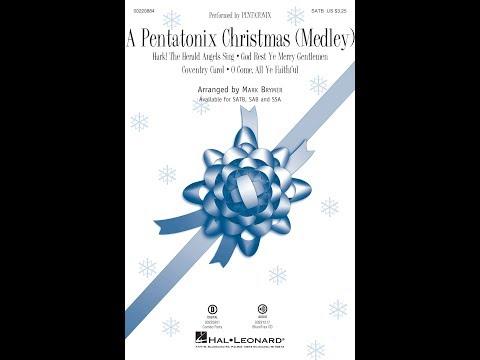 A Pentatonix Christmas (Medley) (SATB) - Arranged by Mark Brymer