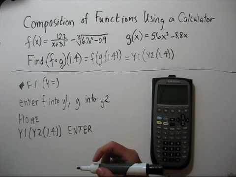 Example composition of two functions: domain and range youtube.