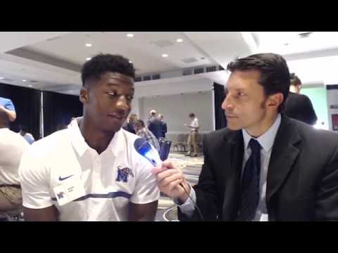 Anthony Miller - Memphis Tigers Wide Receiver Interview / AAC Media Days
