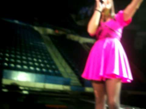 Demi Lovato Secret Dress Rehersal in CT 6/20/09 (front row) Taking a Video With My Camera