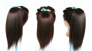 new amazing volumized high ponytail hairstyle || ponytail || cute hairstyles || hairstylehairsties