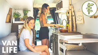 Van Life Tour - Living Full-time In A Beautiful Tiny Home Conversion