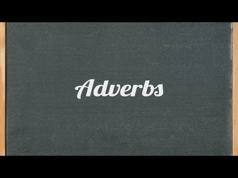 adverbs - English grammar tutorial video lesson