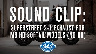 s s cycle superstreet 2 into 1 exhaust for m8 sound db reducers removed