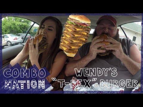 We Try Wendy's Secret T-Rex Burger | COMBOnation
