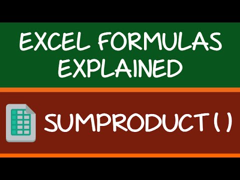 SUMPRODUCT Formula in Excel
