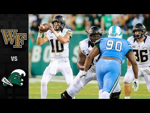 Wake Forest vs. Tulane Football Highlights (2018)