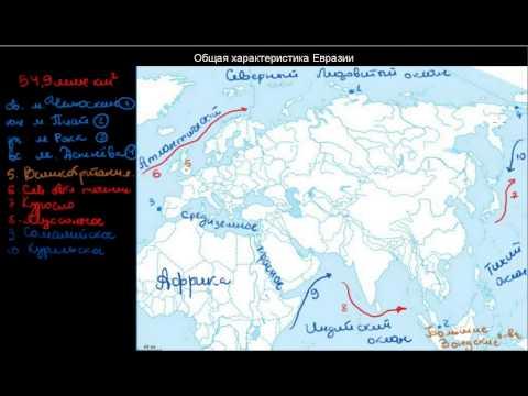 294  Общая характеристика Евразии