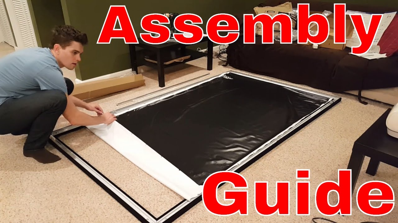 Silver Ticket Projector Screen Assembly Tutorial