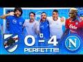 PERFETTI!!! SAMPDORIA 0-4 NAPOLI | LIVE REACTION NAPOLETANI HD