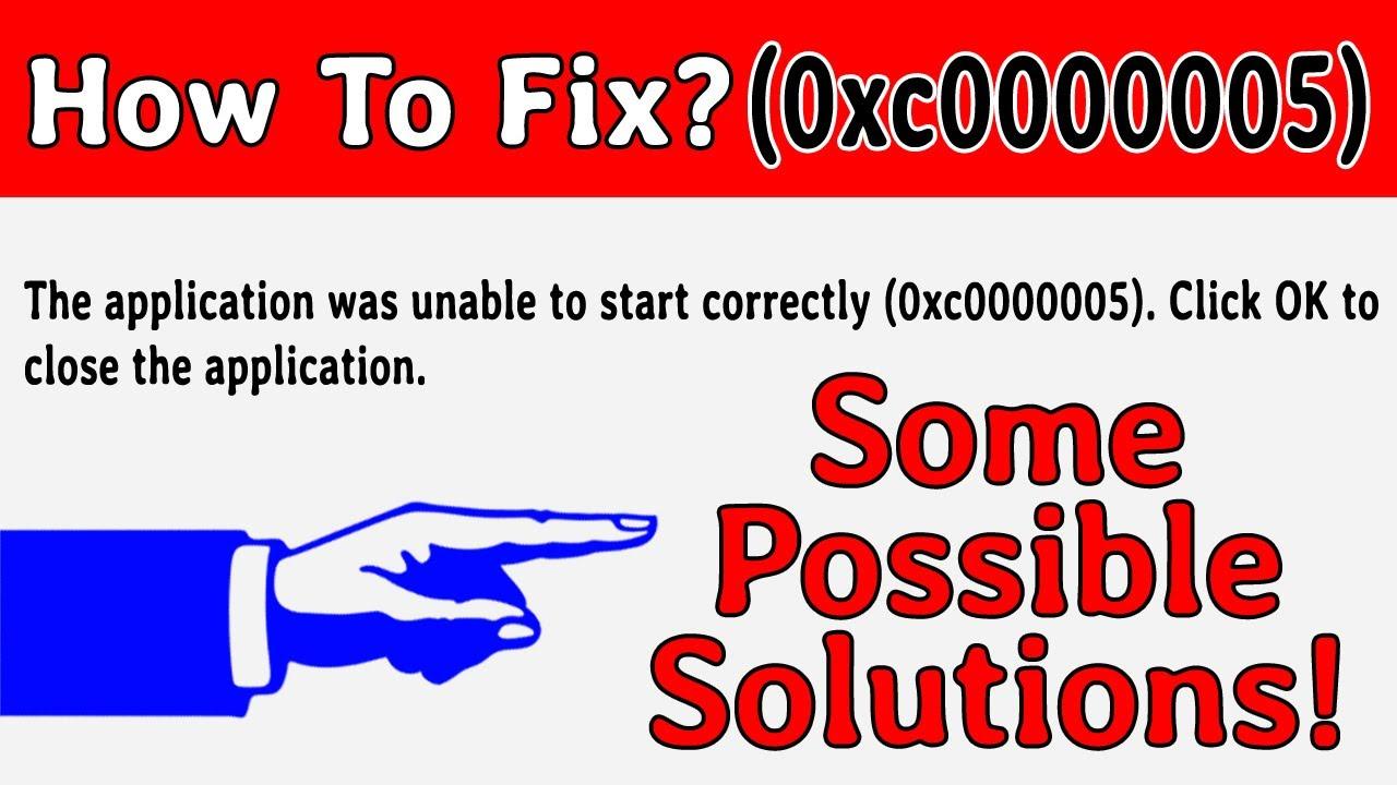 Download How to fix application error code 0xc0000005 in Windows10?