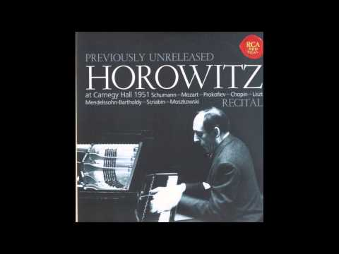 Vladimir Horowitz at Carnegie Hall - 1951