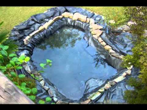 Small garden pond decorations ideas youtube for Koi pool dekor