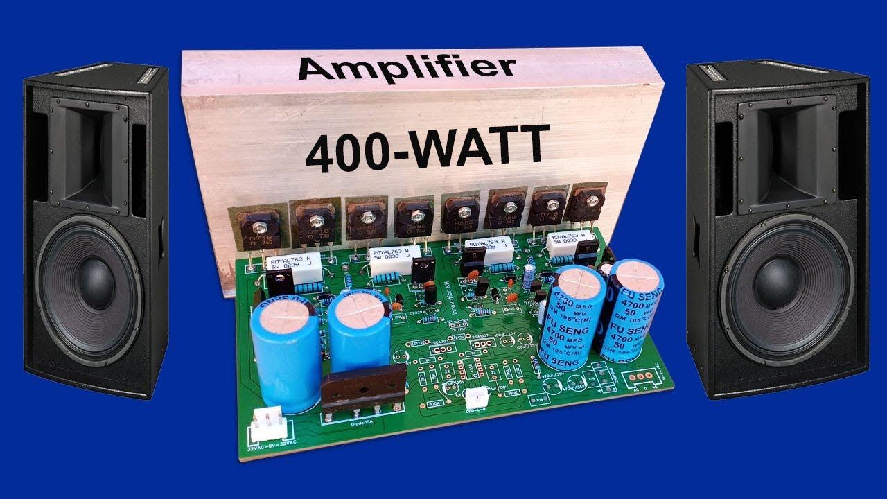 How to make Amplifier 400 Watt using transitors D718 and B688 circuit -  JLCPCB