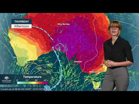 WEATHER UPDATE: severe weather developing over much of Australia this week, 22 Jan. 2019