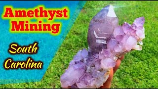 Amethyst Crystal Mining in South Carolina Digging Real Life Minecraft
