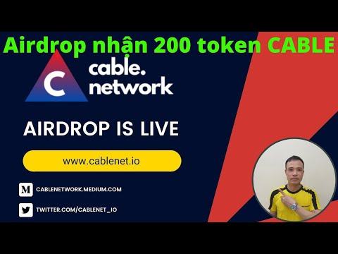 New Crypto Currencies - Hướng dẫn nhận 200 token CABLE mạng BSC