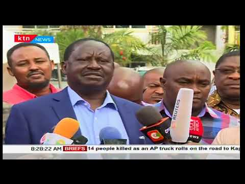 NASA leader, Raila Odinga visits the late Francis Nyenze's family